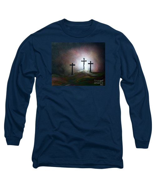Long Sleeve T-Shirt featuring the painting Still The Light by Eloise Schneider
