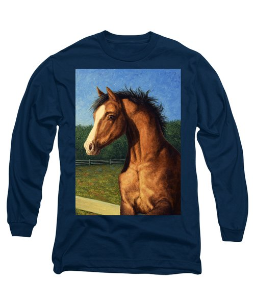 Long Sleeve T-Shirt featuring the painting Stir Crazy by James W Johnson