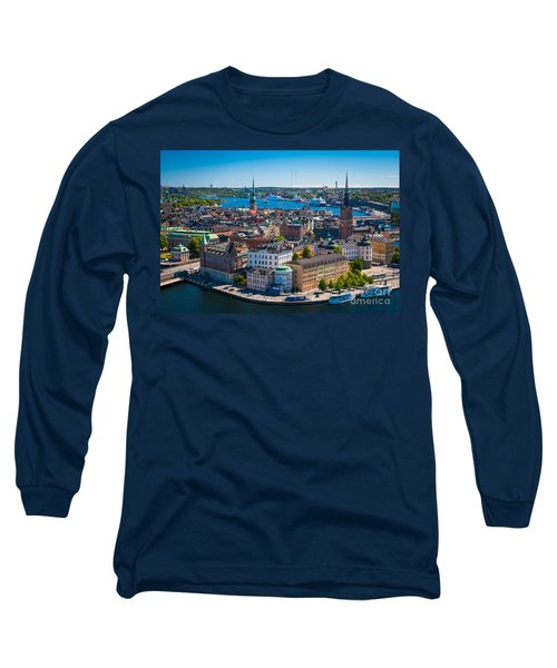 Stockholm From Above Long Sleeve T-Shirt