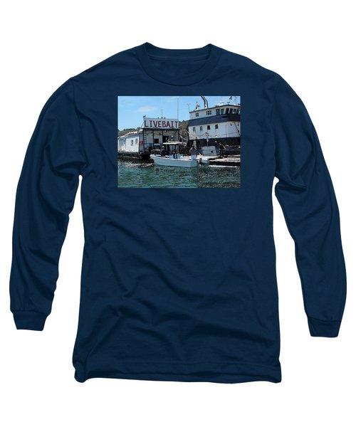 Stocking Up On Live Bait Long Sleeve T-Shirt by Cedric Hampton