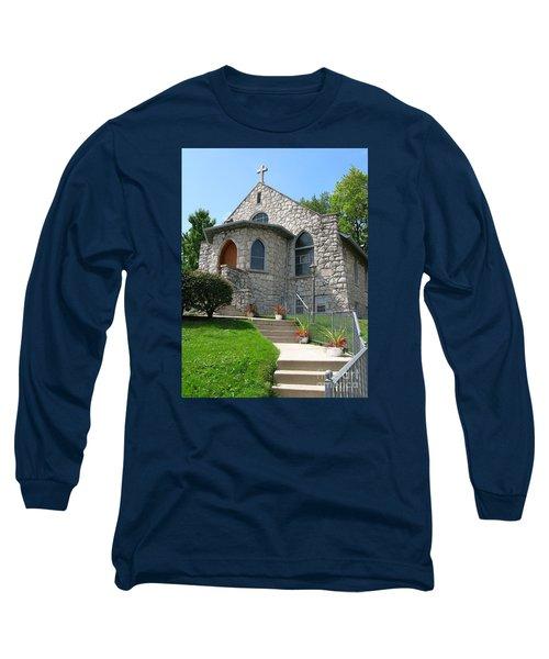 Stone Church Long Sleeve T-Shirt by Ann Horn