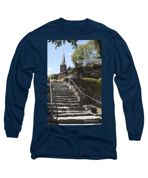 Stone Steps And Saint Peters Church At Harpers Ferry Long Sleeve T-Shirt