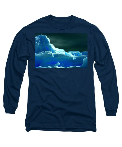 Long Sleeve T-Shirt featuring the photograph Stormy Icebergs by Amanda Stadther