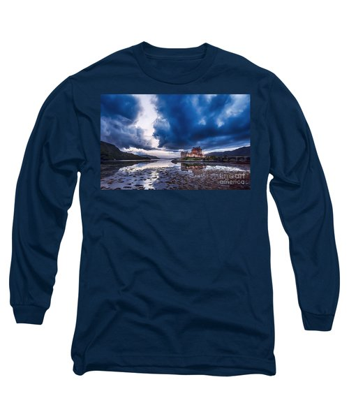 Stormy Skies Over Eilean Donan Castle Long Sleeve T-Shirt