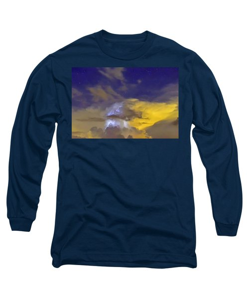 Long Sleeve T-Shirt featuring the photograph Stormy Stormy Night by Charlotte Schafer