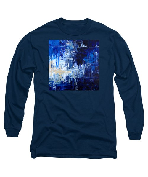 Stormy Waves Long Sleeve T-Shirt by Rebecca Davis