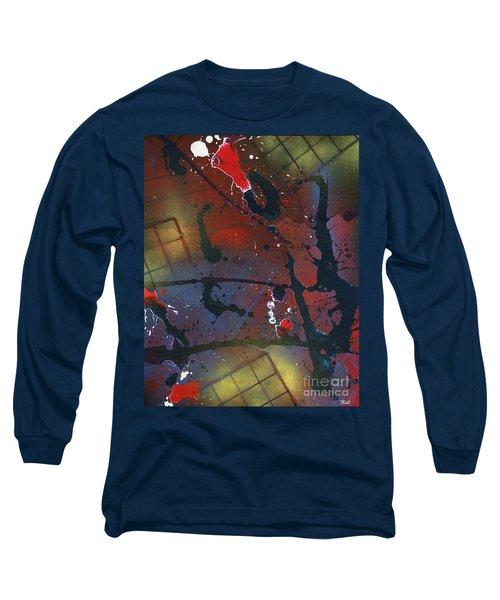 Long Sleeve T-Shirt featuring the painting Street Spirit by Roz Abellera Art