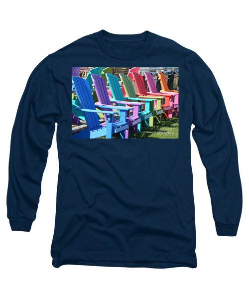 Summer Beach Chairs Long Sleeve T-Shirt