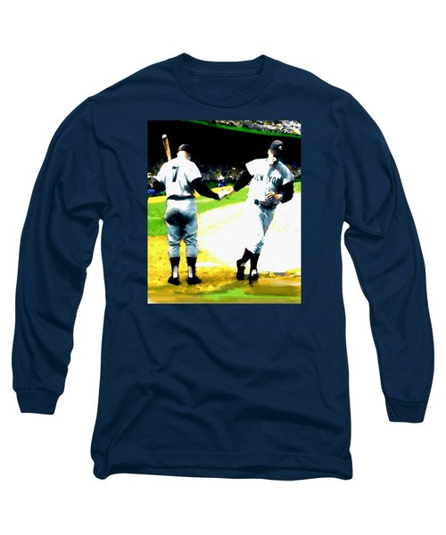 Summer Of The Gods  Iv 1961 Mickey Mantle Long Sleeve T-Shirt by Iconic Images Art Gallery David Pucciarelli