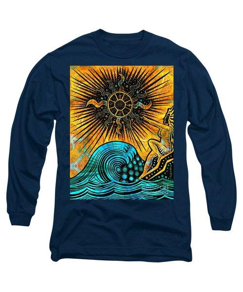 Big Sur Sun Goddess Long Sleeve T-Shirt by Joseph J Stevens