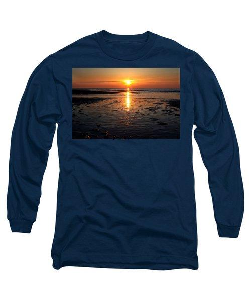 Sundown At The North Sea Long Sleeve T-Shirt
