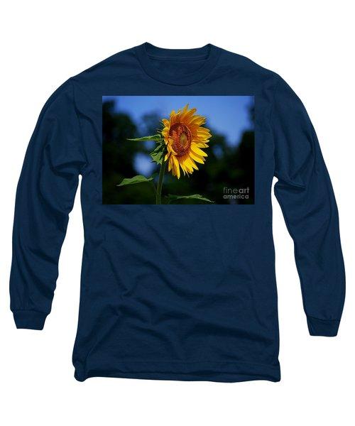 Sunflower With Honeybee Long Sleeve T-Shirt