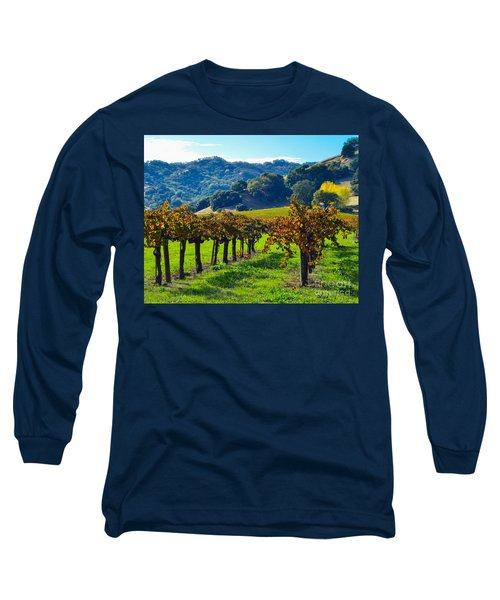 Sunny Autumn Vineyards Long Sleeve T-Shirt