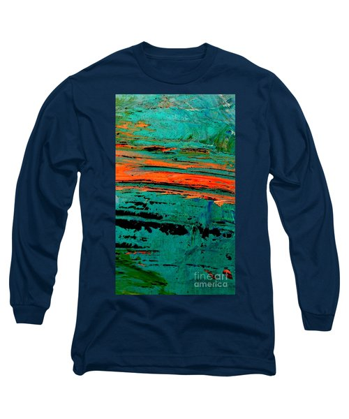 Long Sleeve T-Shirt featuring the painting Sunrise On The Water by Jacqueline McReynolds