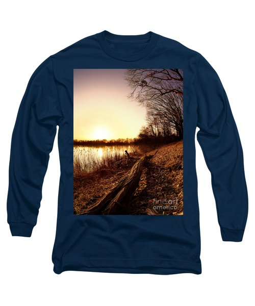 Sunset At The Lake Long Sleeve T-Shirt