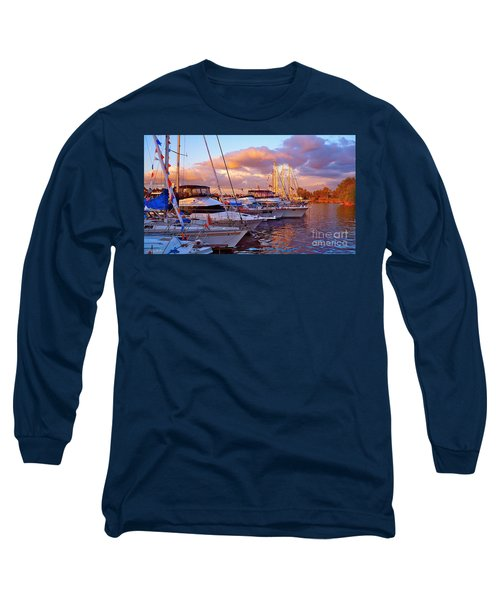 Sunset Before The Show Long Sleeve T-Shirt by Gem S Visionary