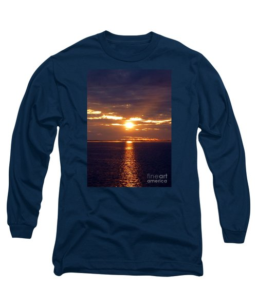 Sunset From Peace River Bridge Long Sleeve T-Shirt by Barbie Corbett-Newmin
