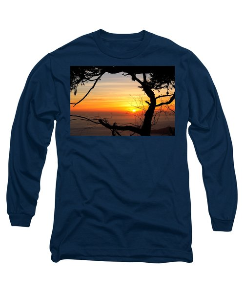 Sunset In A Tree Frame Long Sleeve T-Shirt