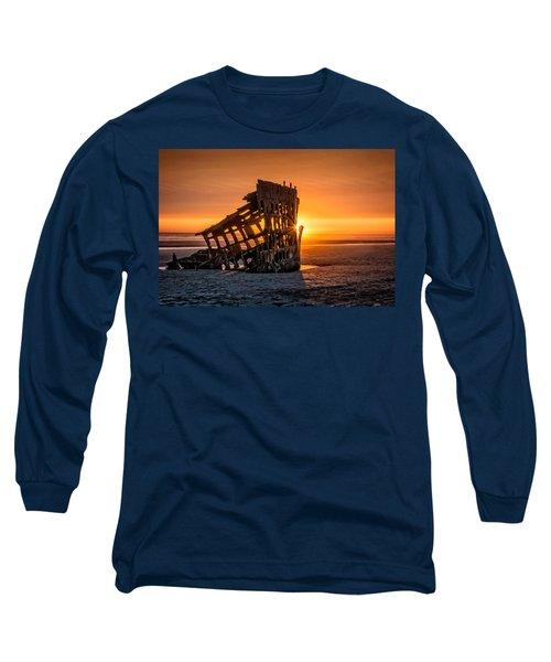Sunset Peter Iredale Long Sleeve T-Shirt by James Hammond