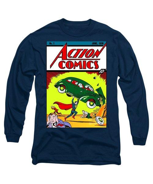 First Edition - Superman Comic Book  Long Sleeve T-Shirt