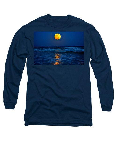 Supermoon Rising On Navarre Beach 20120505c Long Sleeve T-Shirt
