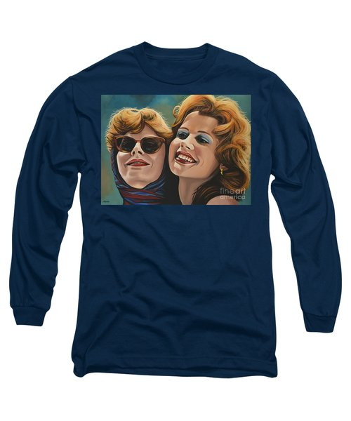 Susan Sarandon And Geena Davies Alias Thelma And Louise Long Sleeve T-Shirt by Paul Meijering