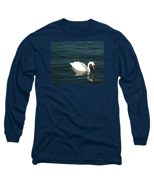 Swan Elegance Long Sleeve T-Shirt by Kathy Churchman