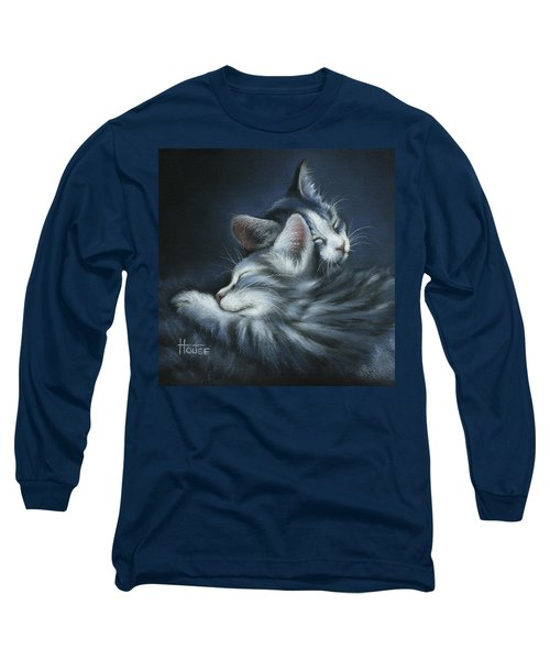 Long Sleeve T-Shirt featuring the drawing Sweet Dreams by Cynthia House