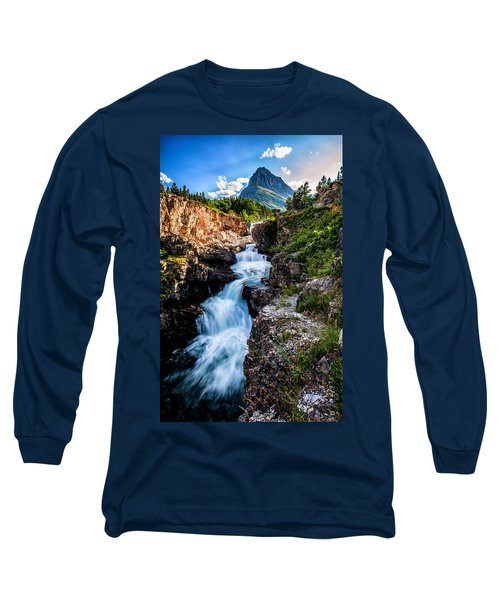 Swiftcurrent Falls Long Sleeve T-Shirt by Aaron Aldrich