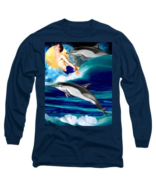Swimming With Dolphins Long Sleeve T-Shirt