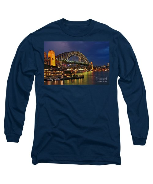Sydney Harbour Bridge By Night Long Sleeve T-Shirt