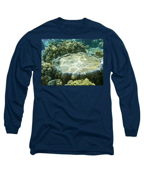 Table Top Coral Long Sleeve T-Shirt by Denise Bird