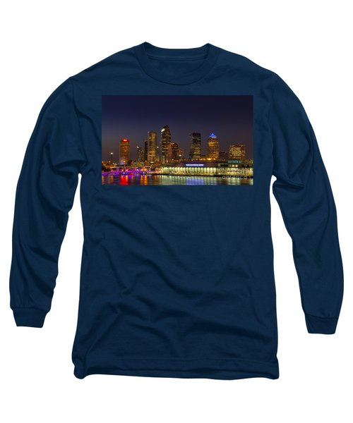 Tampa Lights At Dusk Long Sleeve T-Shirt by Marvin Spates