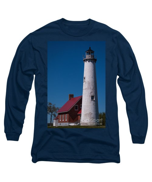 Long Sleeve T-Shirt featuring the photograph Tawas Point Lighthouse by Patrick Shupert