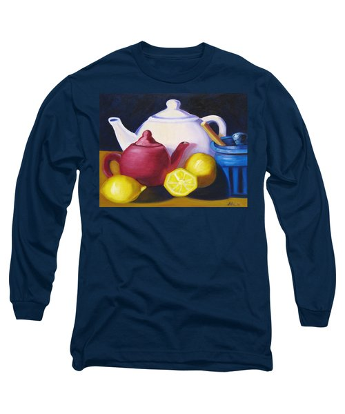 Teapots In Primary Colors Long Sleeve T-Shirt
