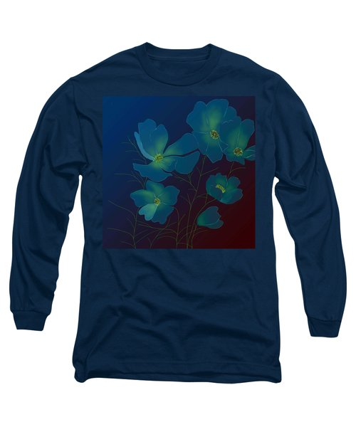 Long Sleeve T-Shirt featuring the digital art Tender Cosmos by Latha Gokuldas Panicker