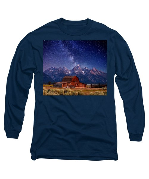 Teton Nights Long Sleeve T-Shirt by Darren  White