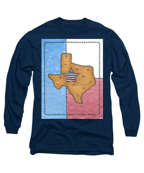 Texas Tried And True Red White And Blue Star Long Sleeve T-Shirt