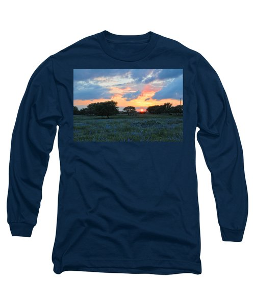 Texas Wildflower Sunset  Long Sleeve T-Shirt