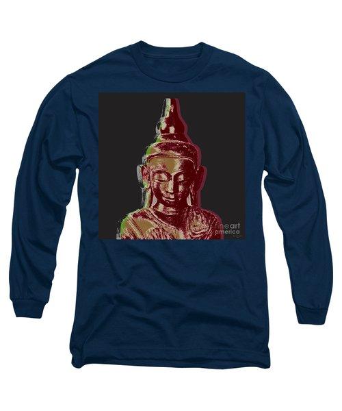 Thai Buddha #3 Long Sleeve T-Shirt by Jean luc Comperat