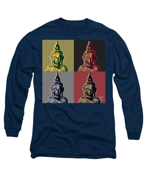 Thai Buddha Long Sleeve T-Shirt by Jean luc Comperat