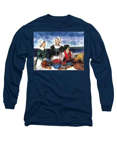 Thanksgiving Supper Long Sleeve T-Shirt by Francine Heykoop