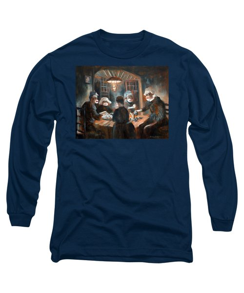 Long Sleeve T-Shirt featuring the painting Tater Eatin by Randol Burns