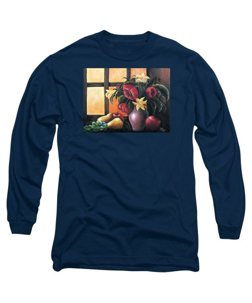 Long Sleeve T-Shirt featuring the painting The Beauty Of The Moment   by Vesna Martinjak