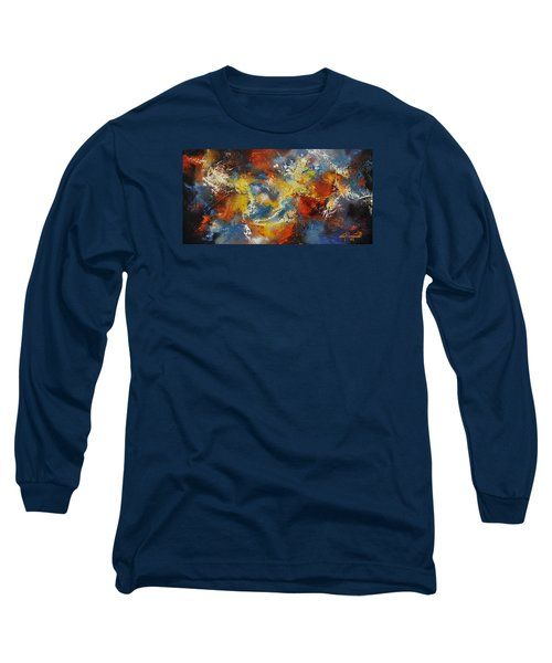Long Sleeve T-Shirt featuring the mixed media The Calm Through The Storm by Craig T Burgwardt