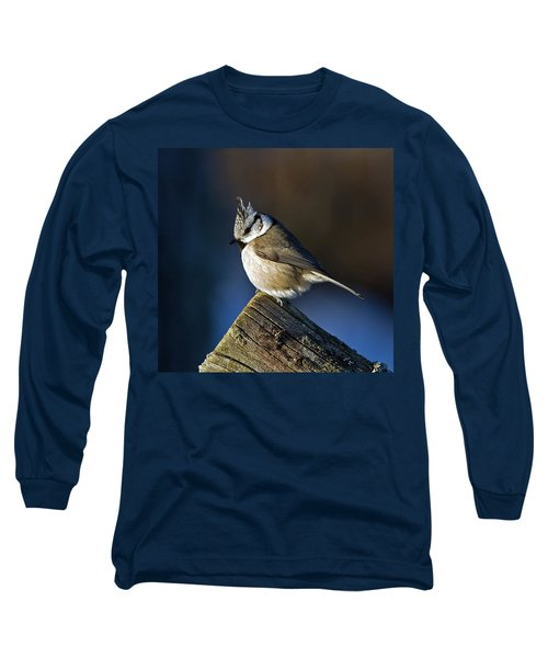 The Crested Tit In The Sun Long Sleeve T-Shirt