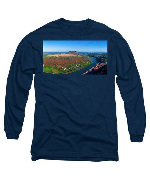 The Elbe Around The Lilienstein Long Sleeve T-Shirt