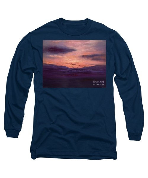 The End Of A Perfect Day Long Sleeve T-Shirt by Valerie Travers
