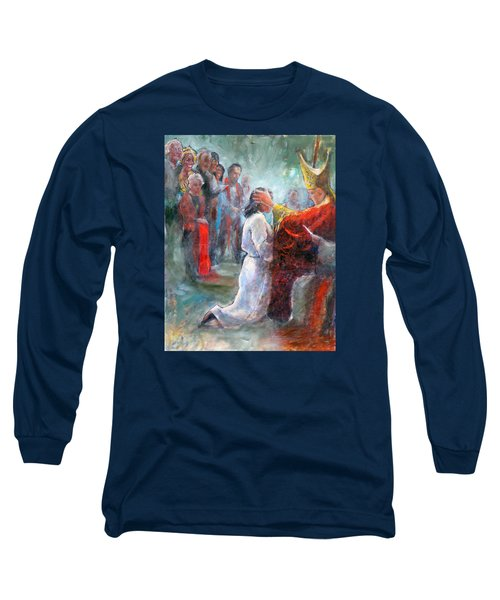 Long Sleeve T-Shirt featuring the painting The Episcopal Ordination Of Sierra Wilkinson by Gertrude Palmer