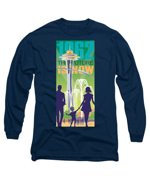 The Future Is Now - Green Long Sleeve T-Shirt